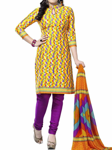 Cotton Suit From Kolkata In Multicolour - FPKWA9AG86