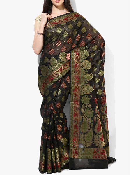 Banarasi Saree In Faux Black - RB-BPBUSA11JL290