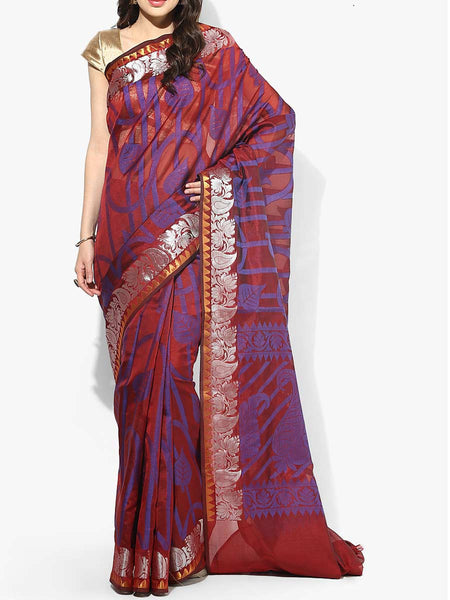 Banarasi Saree In Maroon - RB-BPBUSA11JL395