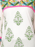 Off- White Block Print Cotton Kurta From Jaipur - NPJRKL18APL2