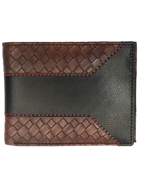 Kanpur Leatherite Wallet In Black & Brown - NCKMW27JN14