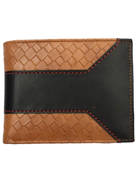 Kanpur Leatherite Wallet In Black & Sandy Brown - NCKMW27JN15