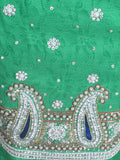 Cotton Silk Zardozi Embroidered Suit From Lucknow In Spring Green - NE-LSST28MH11-1