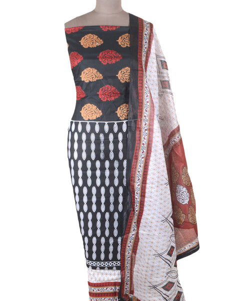 Printed Cotton Suit From Gujarat In MultiColour - ND-PKGS29AP4