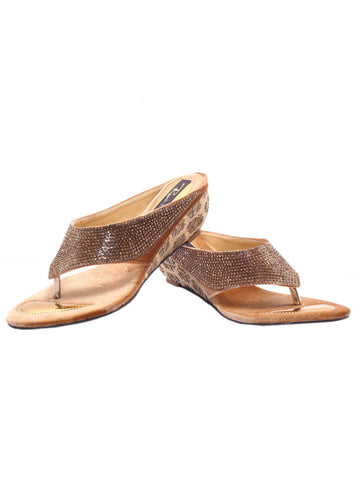 Women's Sandals From Agra In Gold - SA-RUSA23MA13