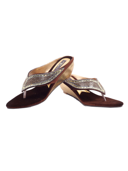 Women's Wedges From Agra In Brown - SA-RUSA23MA16