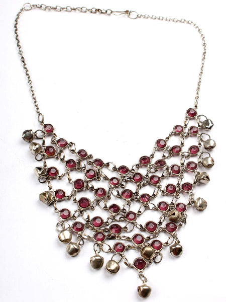 Moradabad Necklace With Beads In Pink - CHUJN6AG14