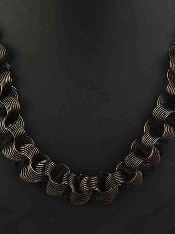 Necklace Moradabad In Black-CHUJN28J15