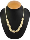 Necklace Moradabad With Beads In Sand Yellow-CHUJN28J34