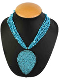 Necklace Moradabad With Beads In Blue-CHUJN28J6