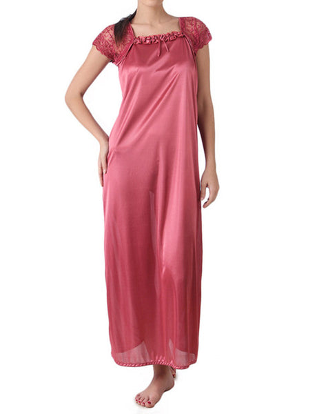One Piece Nighties From Mumbai In Salmon Pink - MPNSP31MH4