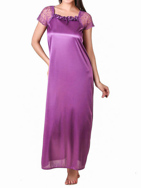One Piece Nighties From Mumbai In Purple - MPNSP31MH5