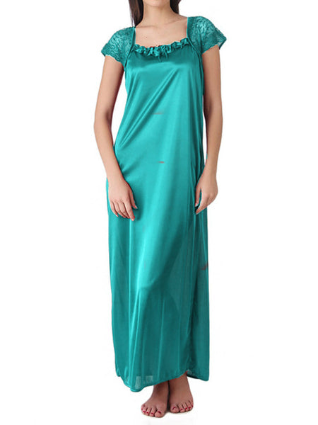 One Piece Nighties From Mumbai In Turquoises - MPNSP31MH7