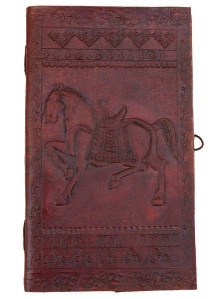 Organic Paper Note Book From Jodhpur With Leather Cover - CJRP19AG11