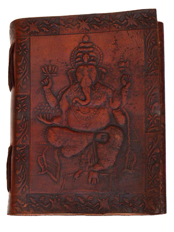 Ganesh Organic Paper Note Book From Jodhpur With Leather Cover - CJRP19AG1