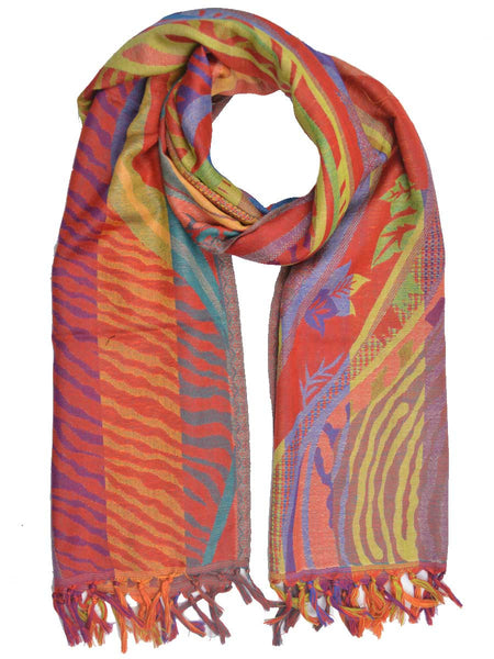 Cashmere Stole In Multi Color - OCKHS19NR21