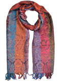 Cashmere Stole In Multi Color - OCKHS19NR22