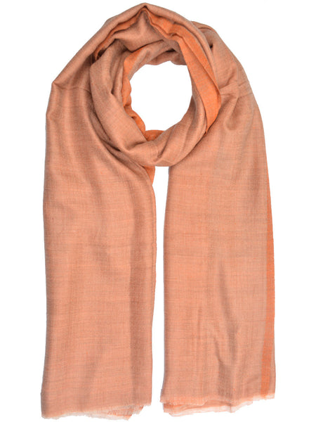 Cashmere Stole In Sandy Brown From Kashmir - OCKHS19NR4