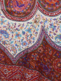 Cashmere Shawl From Kashmir In Maroon & Multi Color - OH-CKHSH19NR22