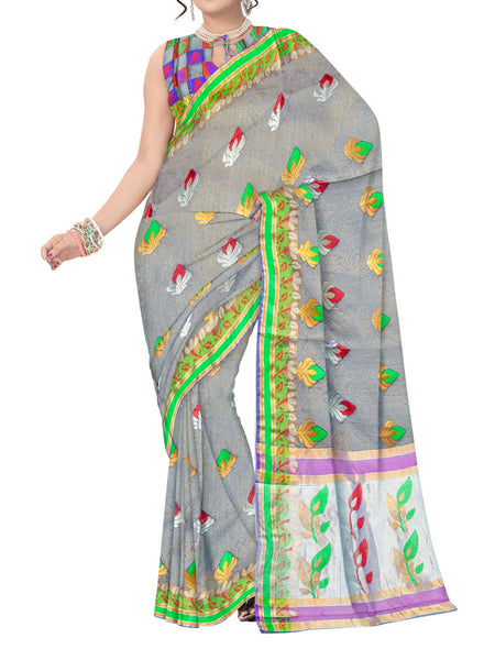 Saree From West Bengal In Multicolor - PWBSAI11SP12