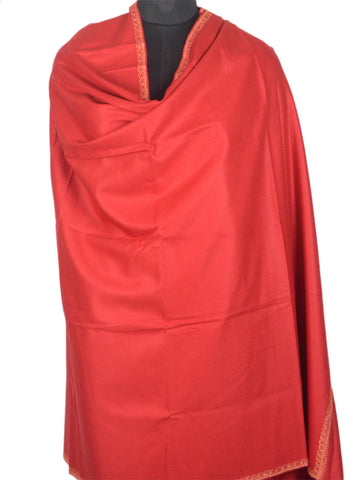 Cashmere Shawl From Kashmir In Red - OH-CKHSH16SP15