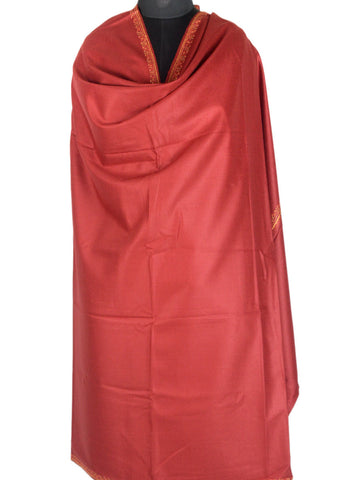 Cashmere Shawl From Kashmir In Deep Red - OH-CKHSH16SP17