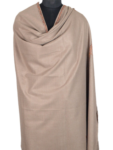 Cashmere Shawl From Kashmir In Beige - OH-CKHSH16SP7