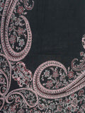 Cashmere Double Bedsheet From Kashmir In Black - OH-KKDBS24D4