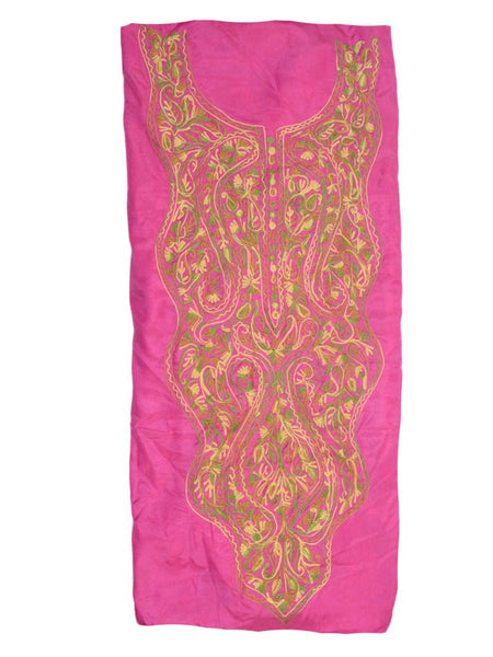 Kashmiri Embroidery Suit In Pink - OH-PKSU25JN11