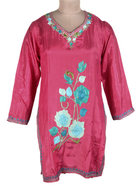 Kurti From Kashmir In Sweet Pink - OPSKK25JN10