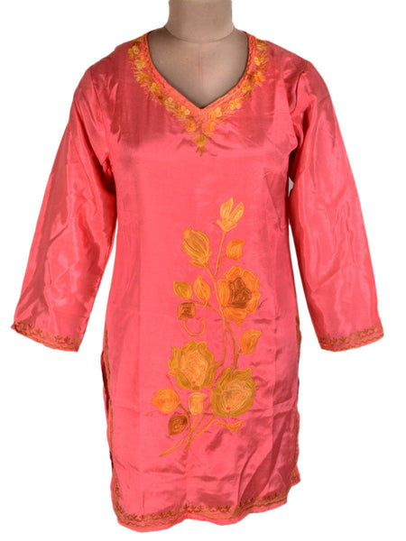 Kurti From Kashmir In Salmon Pink - OPSKK25JN11