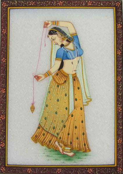 Marble With Dancing Ragini Painting -HJRME44