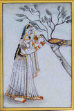 Marble Painting Of Ragini With Peacock-EC-HJRME5MY32