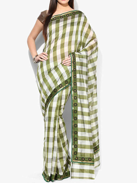 Banarasi Saree In Cotton Green - RB-BPBUSA11JL261