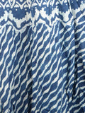 Hand Block Dabu Printed Elastic Skirt From Jodhpur In Blue - PJORSE7MY12
