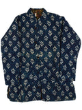 Printed Reversible Jacket From Rajasthan In Blue & Multi - PJRJW23N29