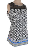 Printed Short Top From Rajasthan In Black & White - PJRKD27JL2
