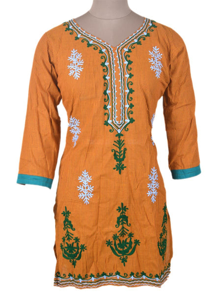 Printed Kurti From Rajasthan In MultiColour - PJRKLB19MY100