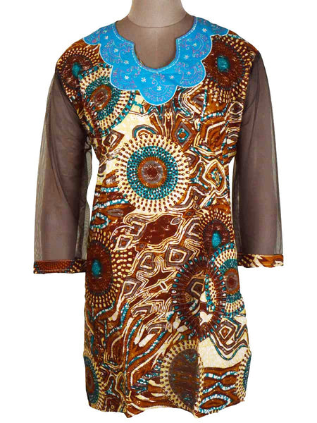 Printed Kurti From Rajasthan In Multicolor - PJRKLB19MY29