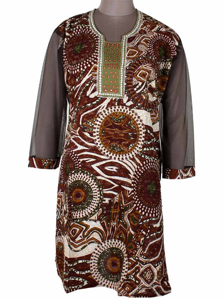 Printed Kurti From Rajasthan In MultiColor - PJRKLB19MY50