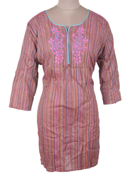 Printed Kurti From Rajasthan In MultiColour - PJRKLB19MY89