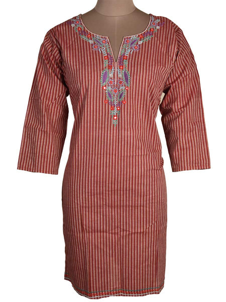 Printed Kurti From Rajasthan In Multicolor - PJRKLB19MY93