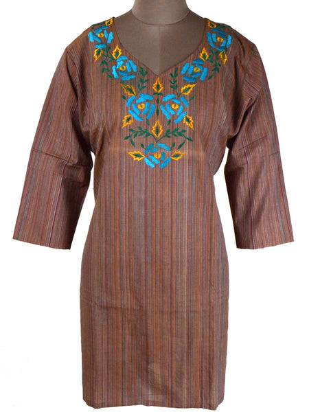 Printed Kurti From Rajasthan In Sandy - PJRKLB19MY94