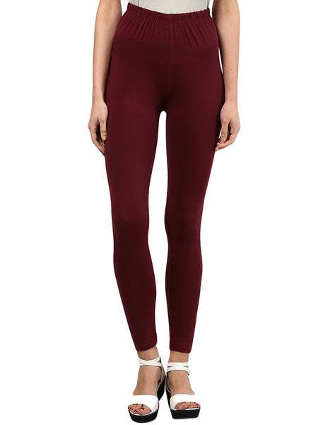 Maroon Leggings from Rajasthan - PJRL1JL10