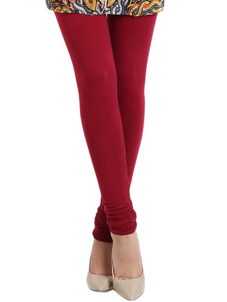 Lava Red Leggings from Rajasthan - PJRL1JL11
