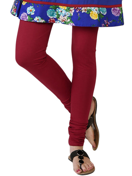Carmine Pink Leggings from Rajasthan - PJRL1JL15