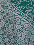 Pyajama With Block Print From Jaipur In White & Green - PJRP5OCT7