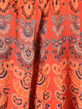 Rajasthani Skirt With Block Print In Red - PJRSE11FBY25