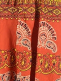 Rajasthani Skirt With Block Print In Red - PJRSE30MH19