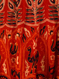 Skirt From Jaipur With Block Print In Red - PJRSE31JL27